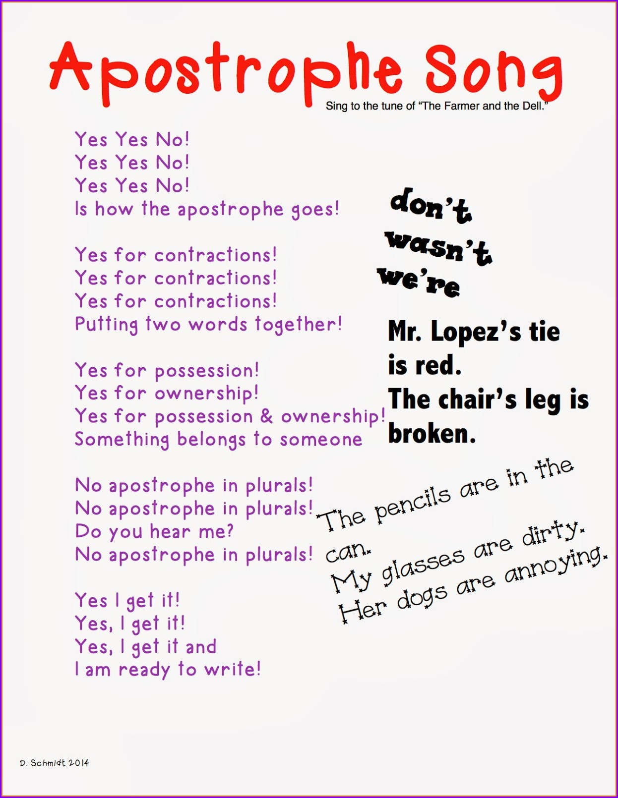 Printable Contractions Worksheet 2nd Grade
