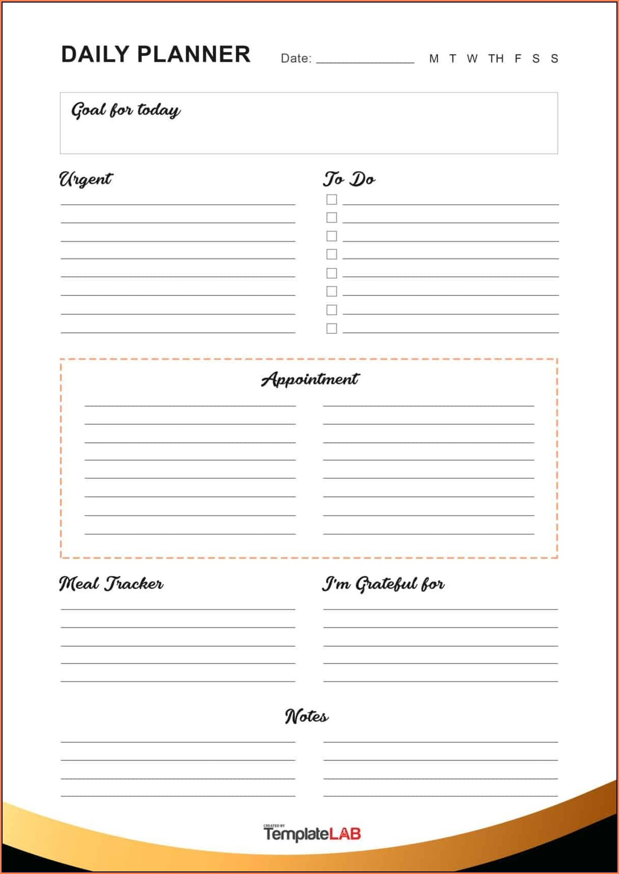 Printable Daily Goal Setting Worksheet