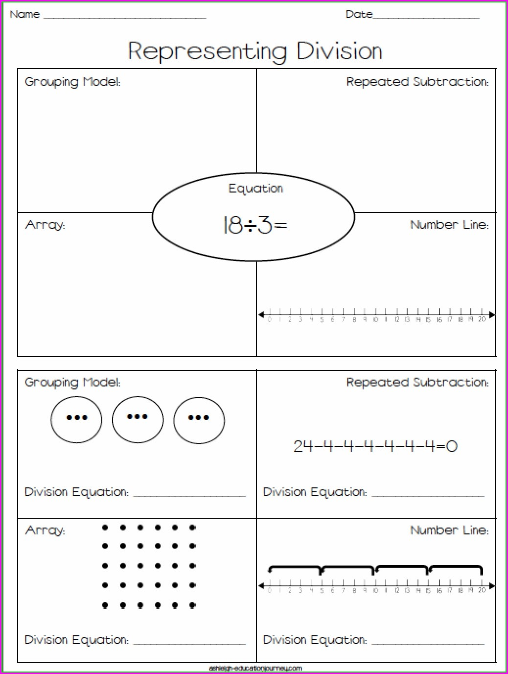 Printable Division Worksheet Grade 2