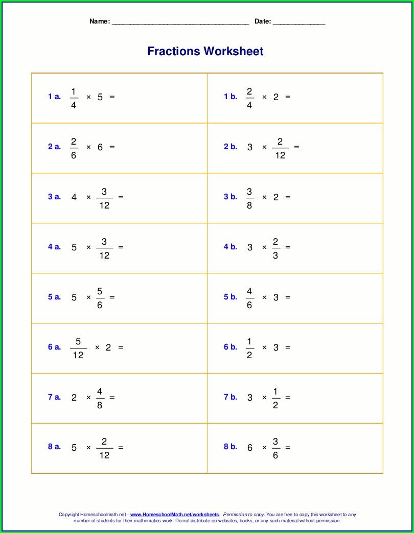 Printable Fractions Worksheets Grade 3 Pdf