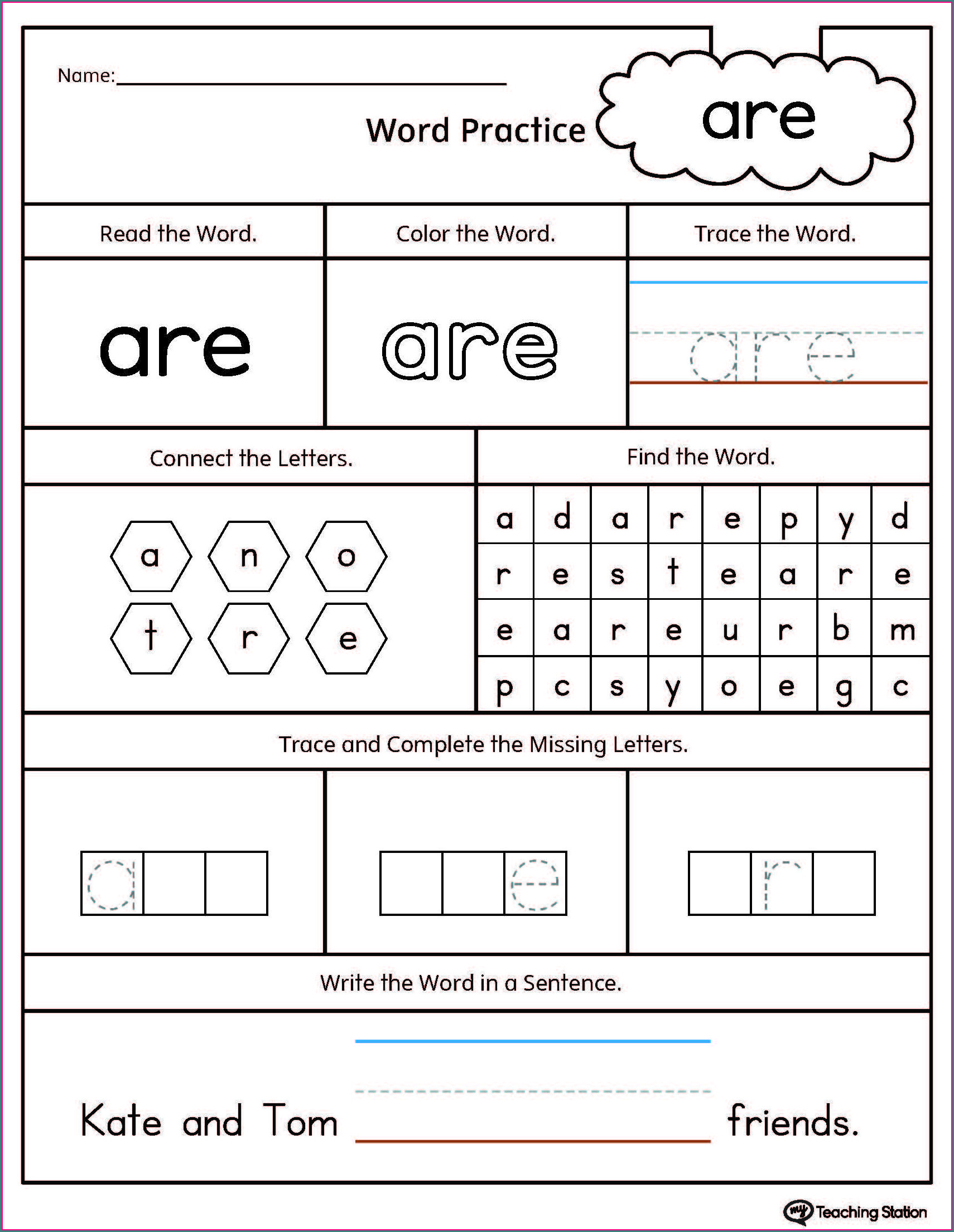 Printable Rhyming Words Worksheet Kindergarten