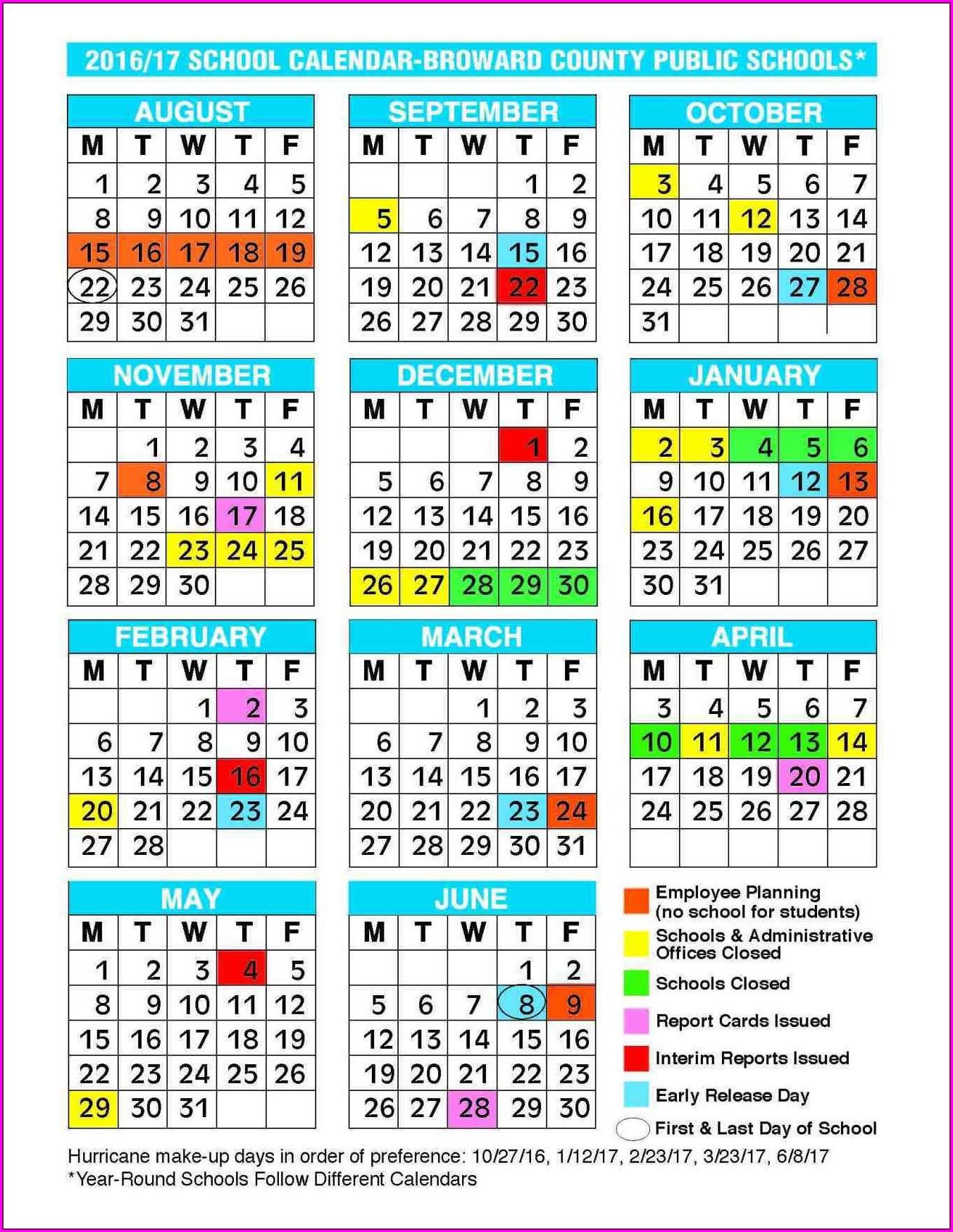 Printable School Calendar 2014 15