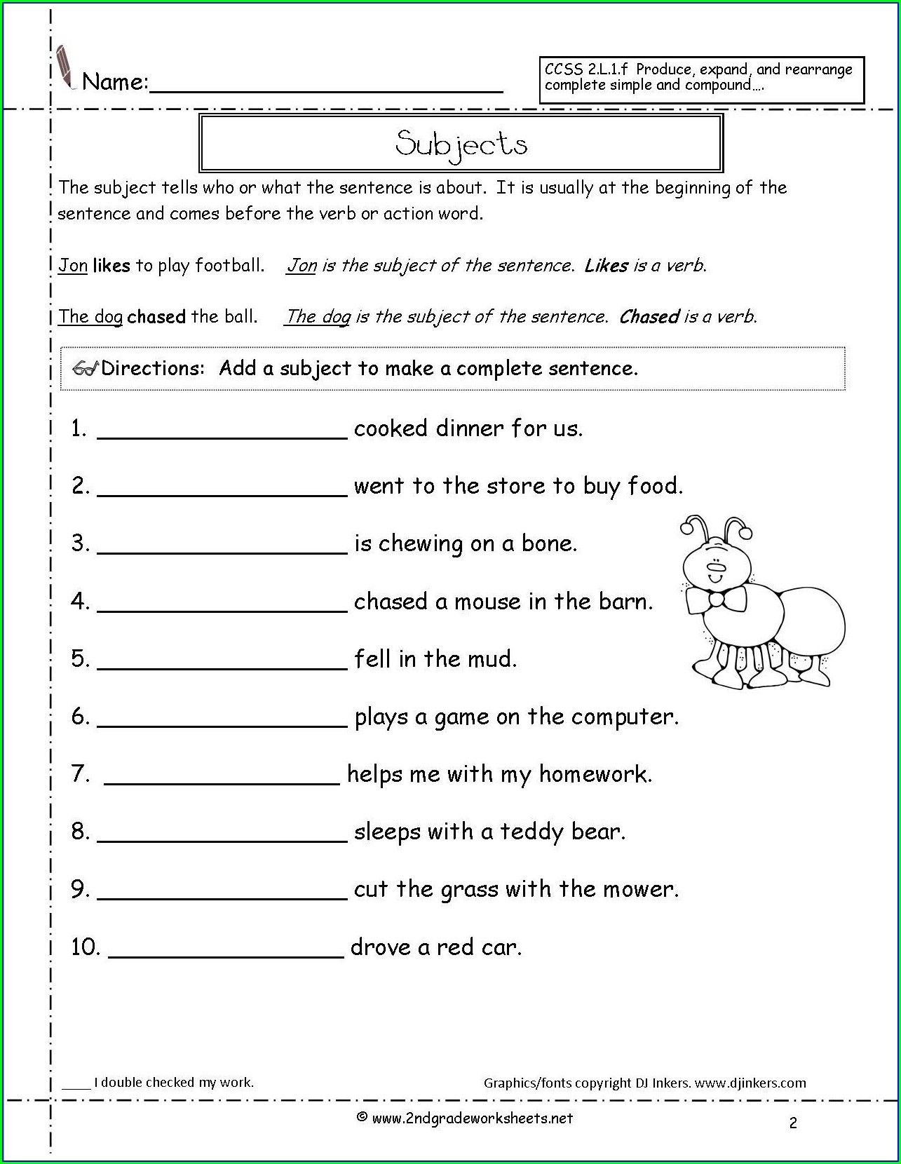 Printable Worksheet For Class 3