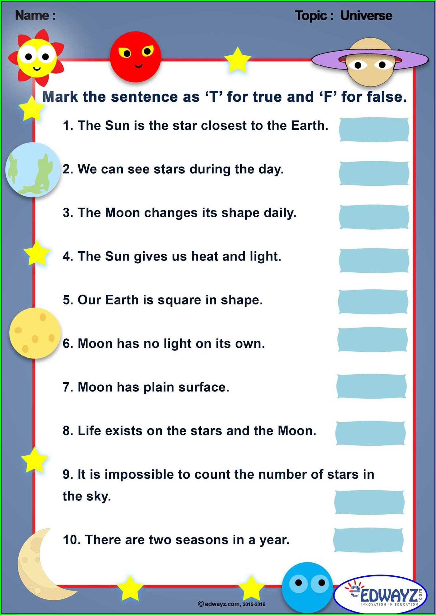 Printable Worksheet In Science