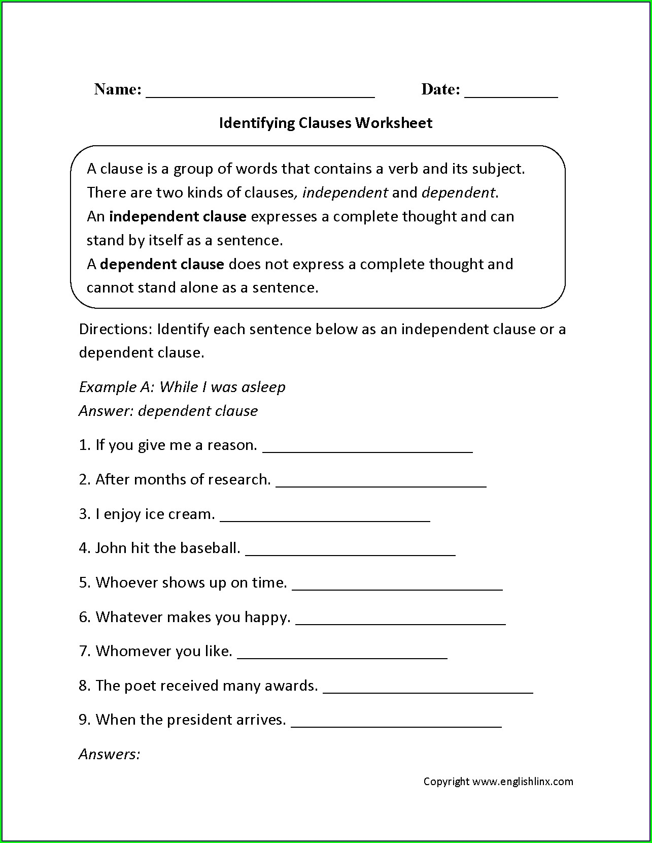 Printable Worksheets For 8th Grade