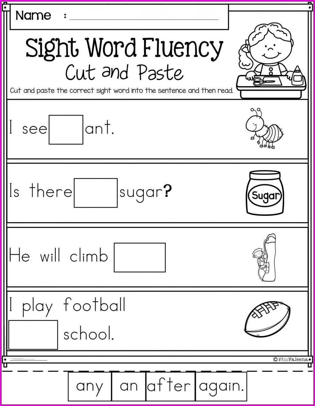 Printable Worksheets For Kindergarten Reading