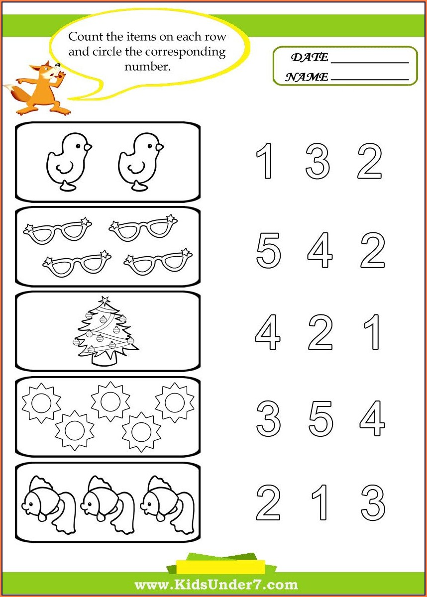 Printable Worksheets For Preschool Kids