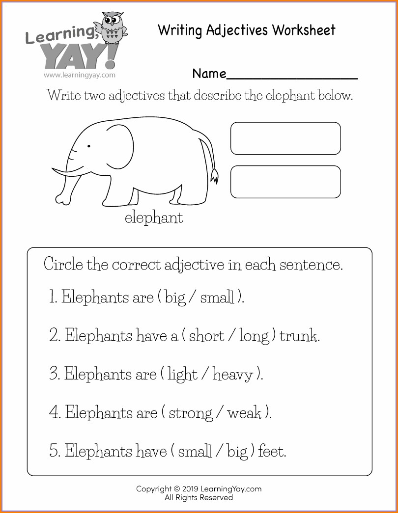 Printable Writing Worksheet For 1st Grade