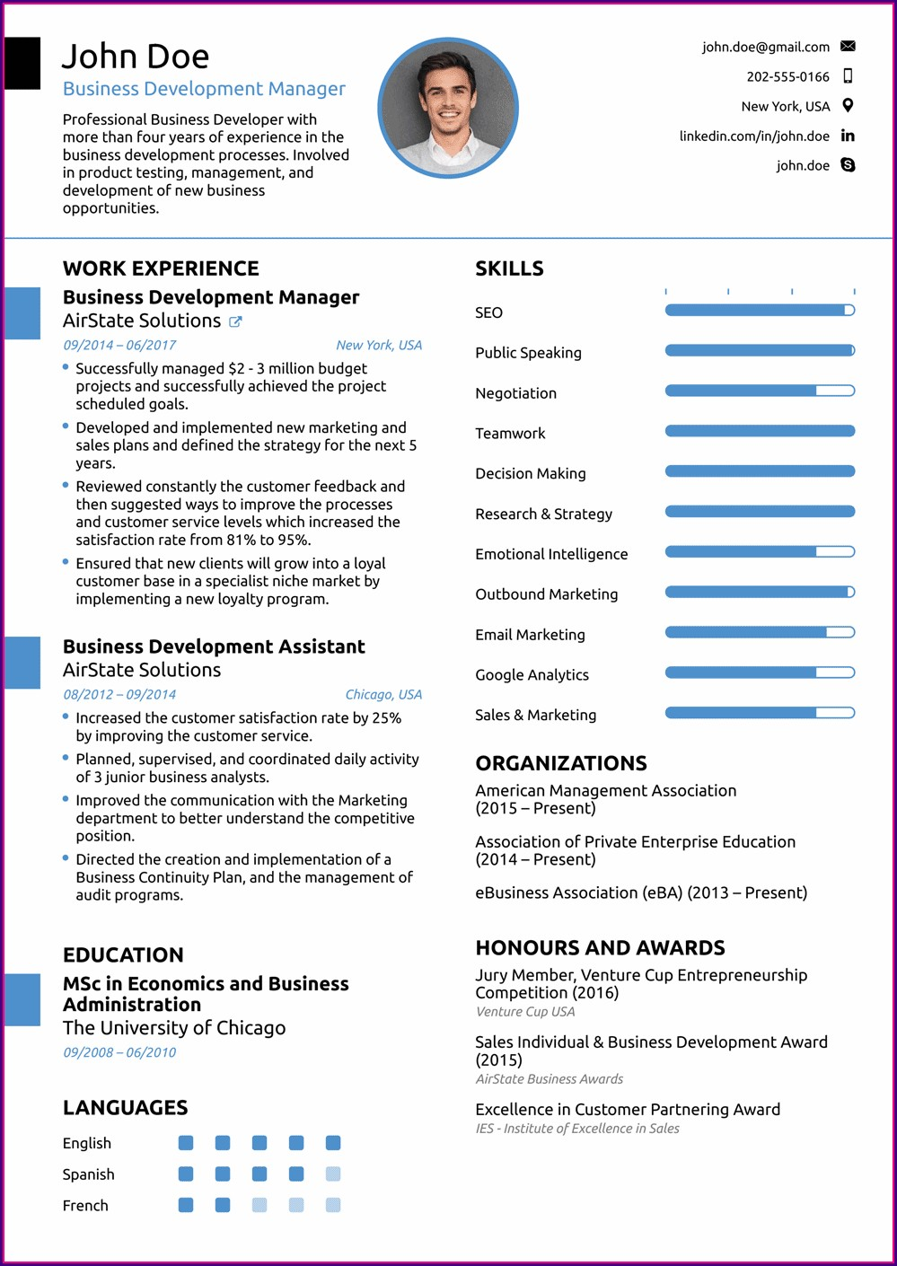 Professional Cv Samples Free Download