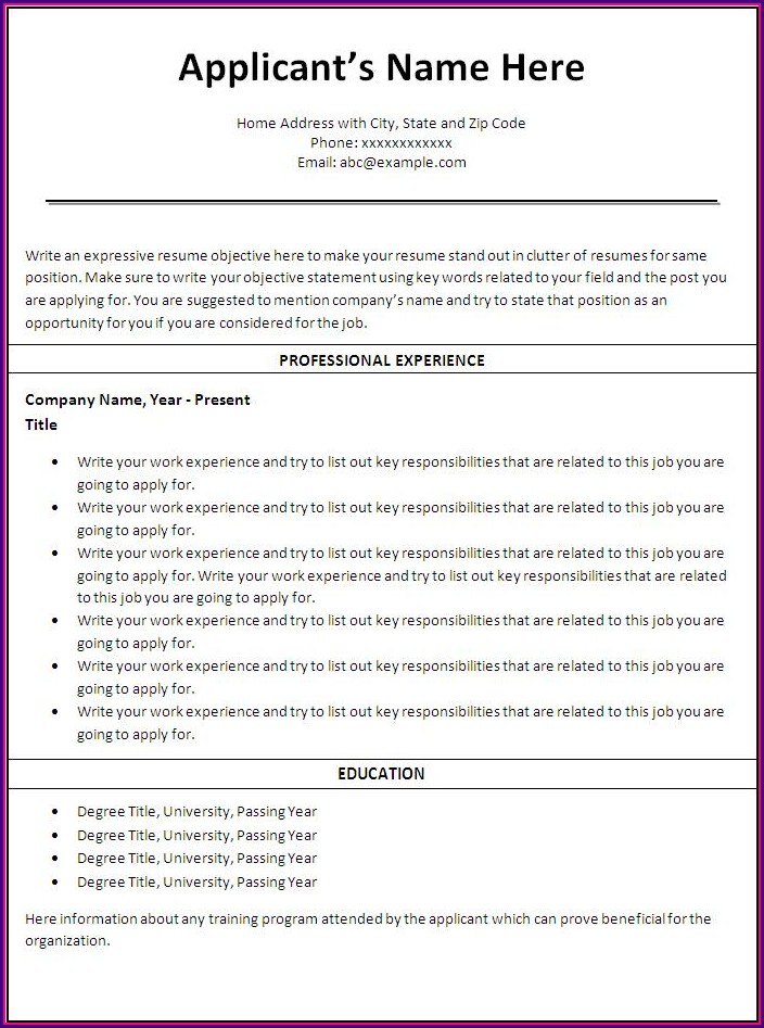 Professional Nursing Resume Templates