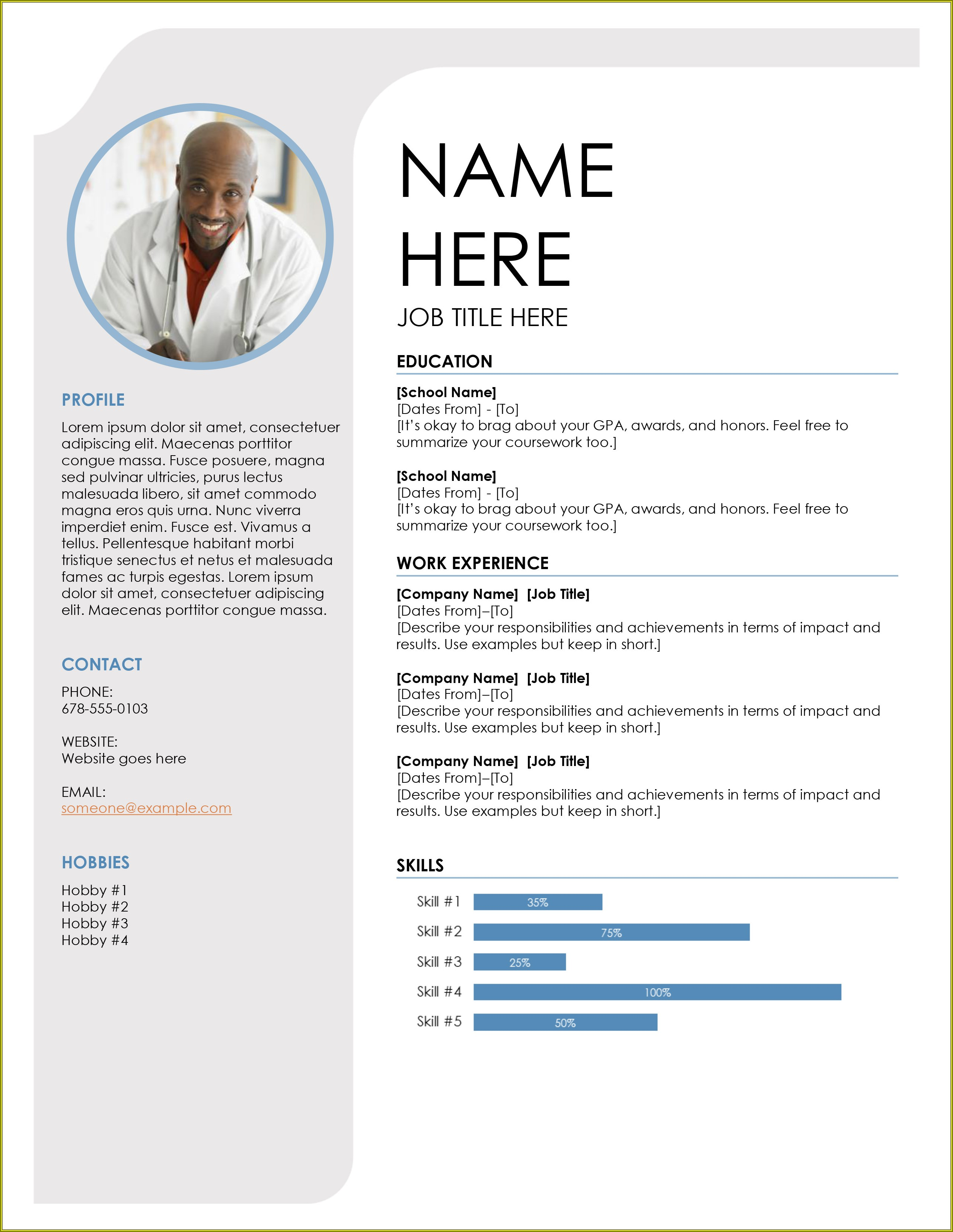 Professional Resume Free Resume Template Download
