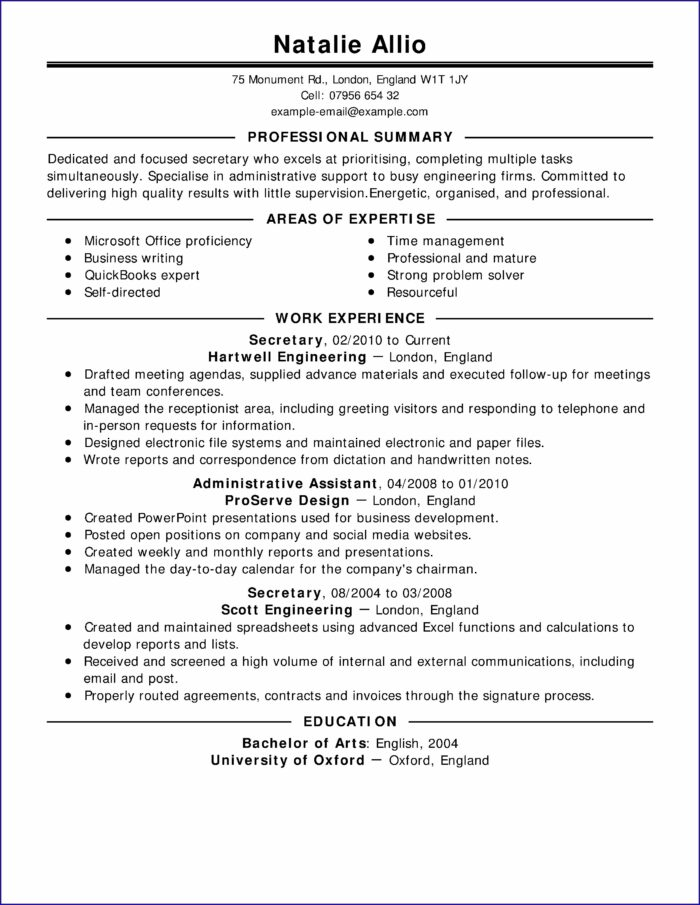 Professionally Written Resume Examples