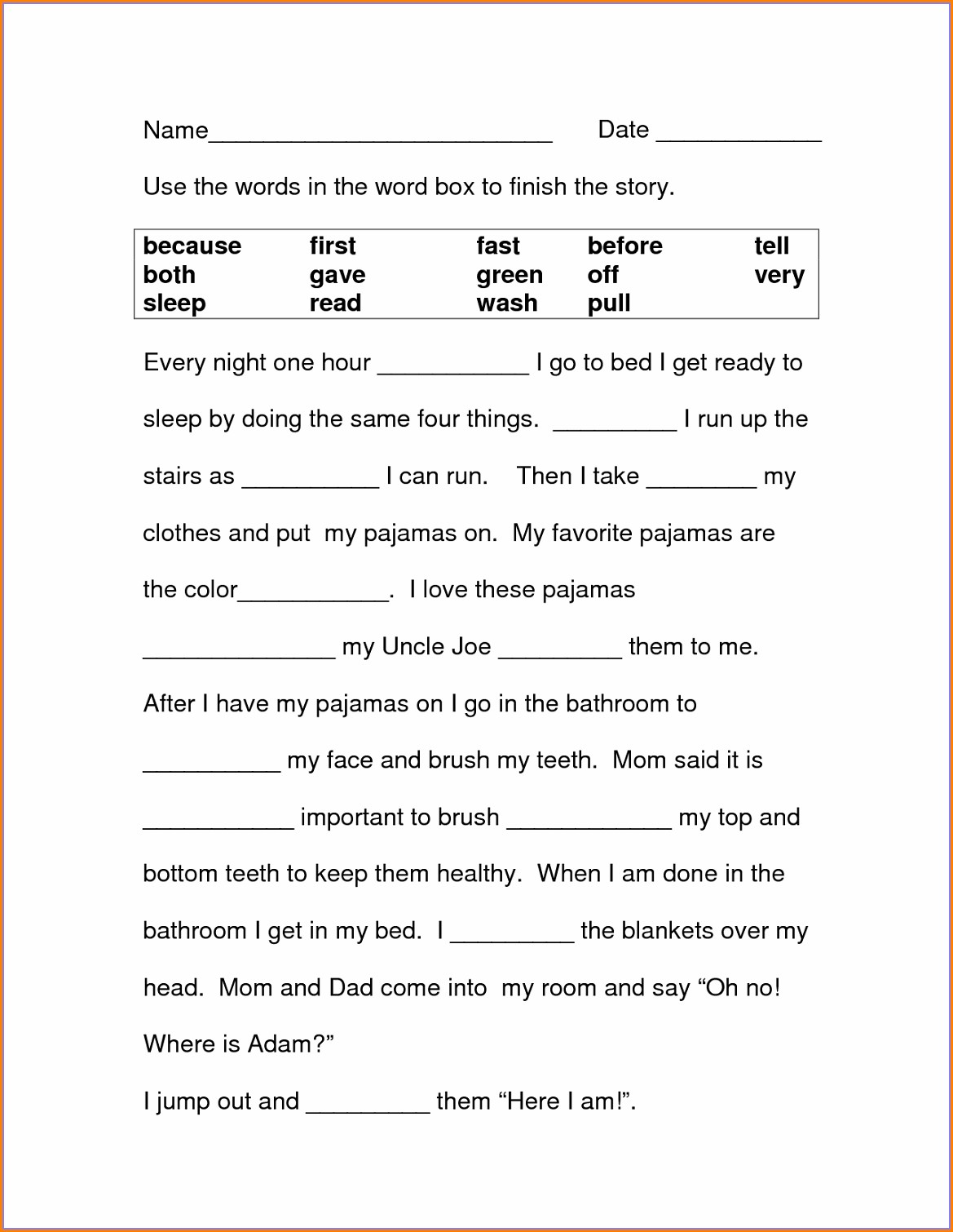 Pronoun Worksheet For Grade 2 With Answers