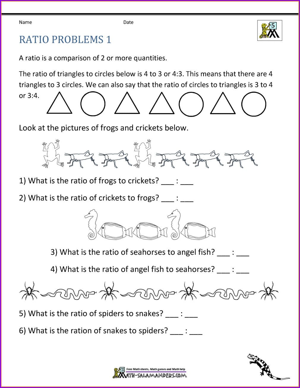 Proportion Word Problems Worksheet With Answers Pdf