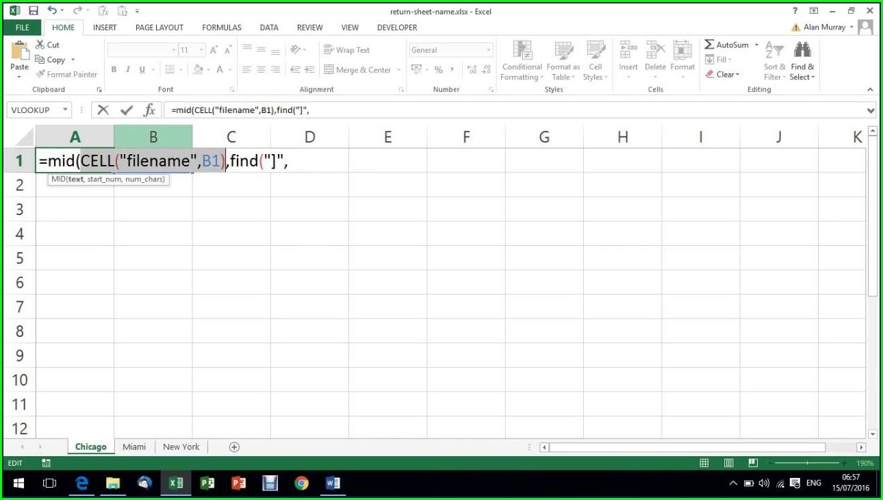 Read Sheet Name Excel File C