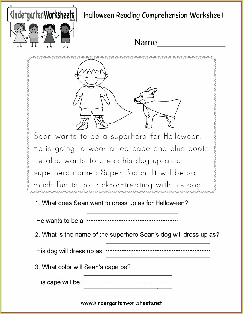 Reading Comprehension Worksheet For 5th Grade