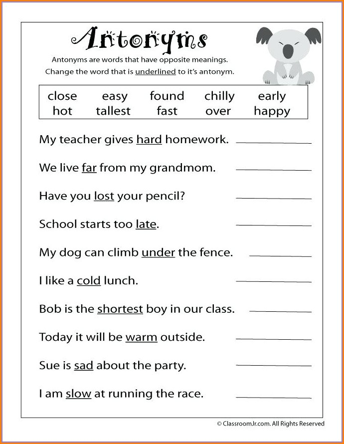 Reading Comprehension Worksheet For Grade 2 Pdf