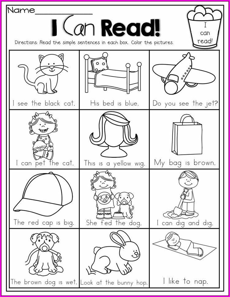 Reading Cvc Worksheets For Kindergarten
