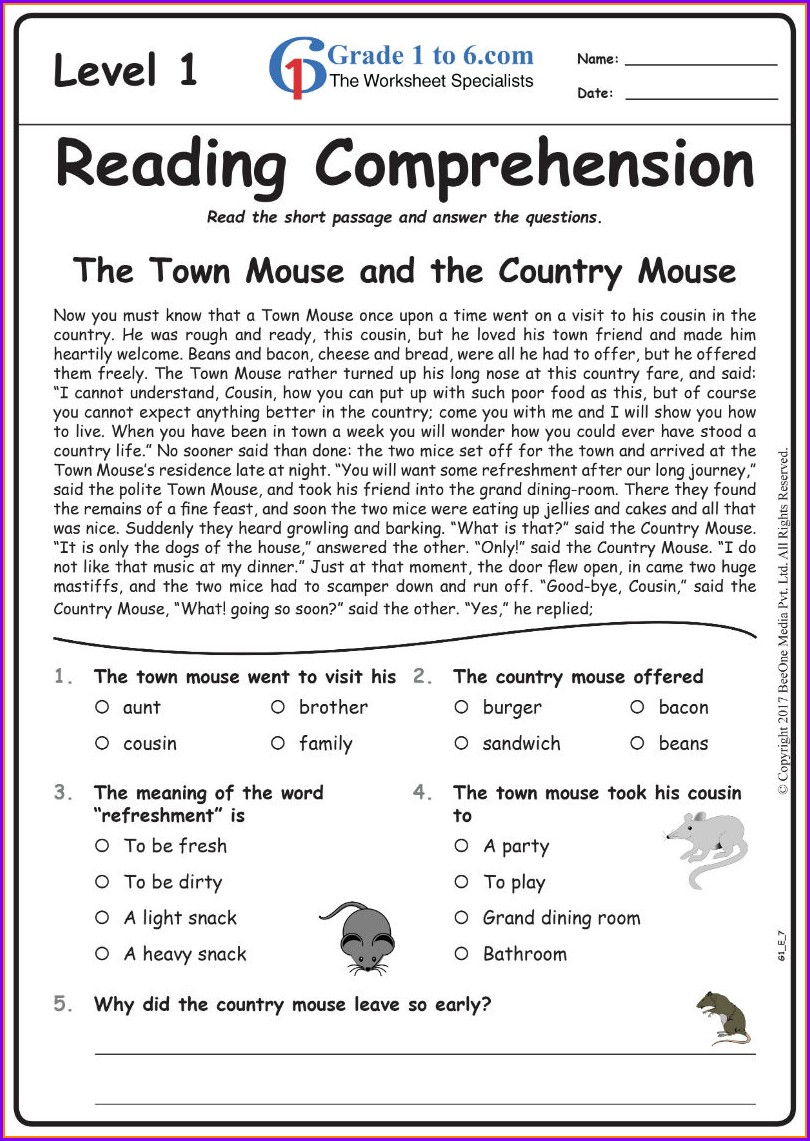 Reading Exercises Year 1