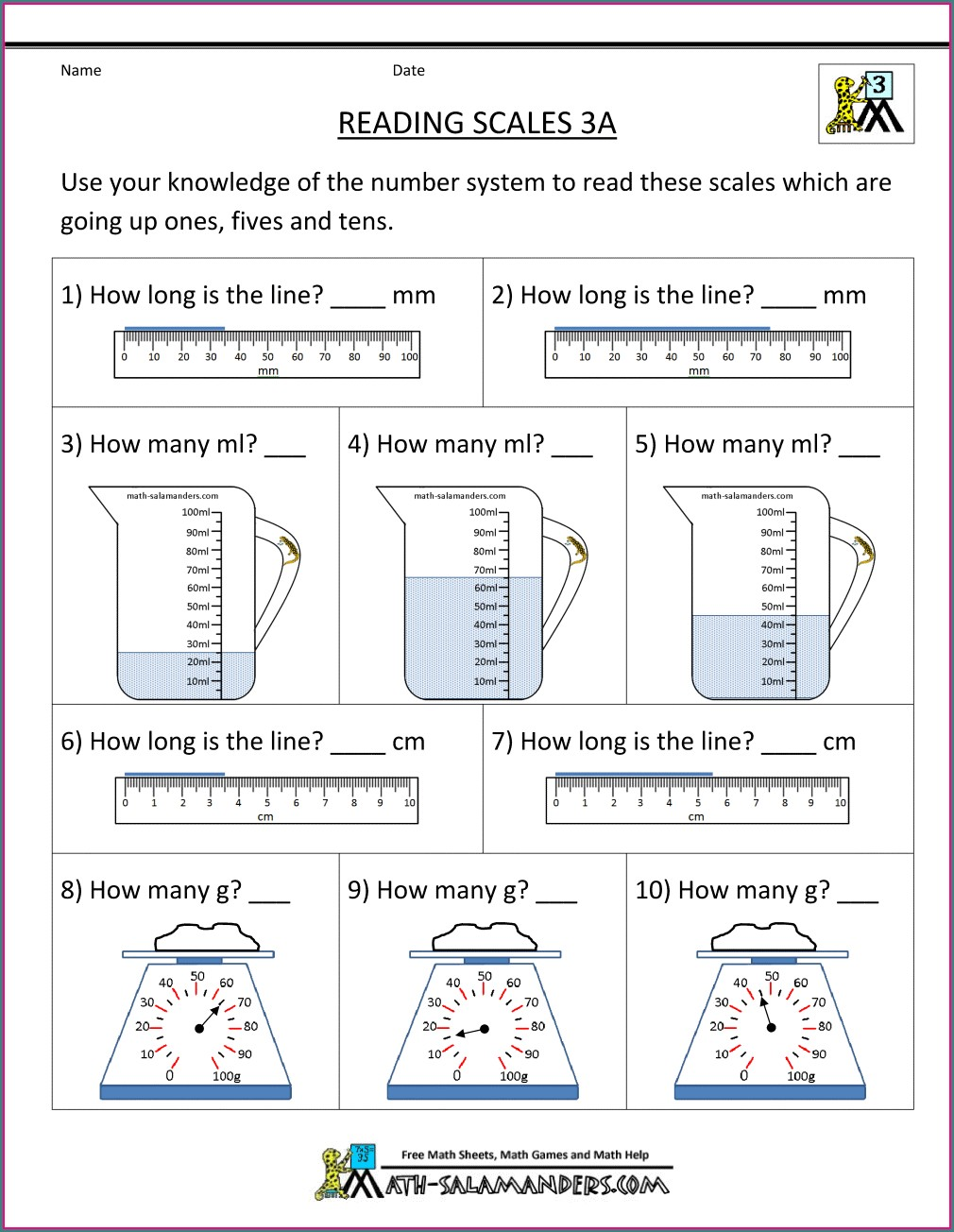 Reading Thermometers Worksheet 3rd Grade