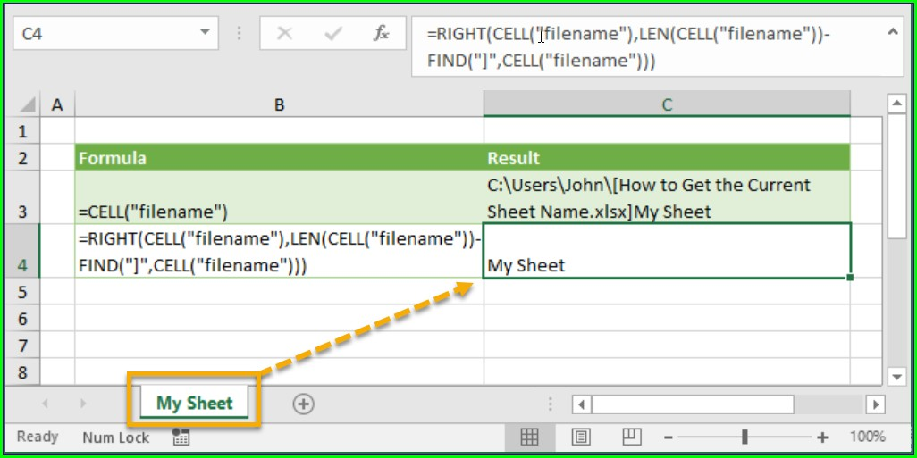 Reference Sheet Name In Excel