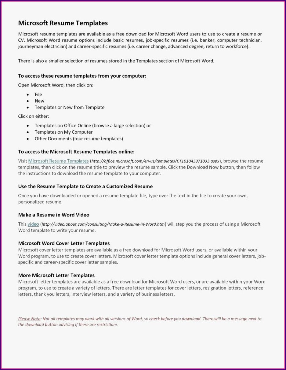 Resume Builder Without Microsoft Word