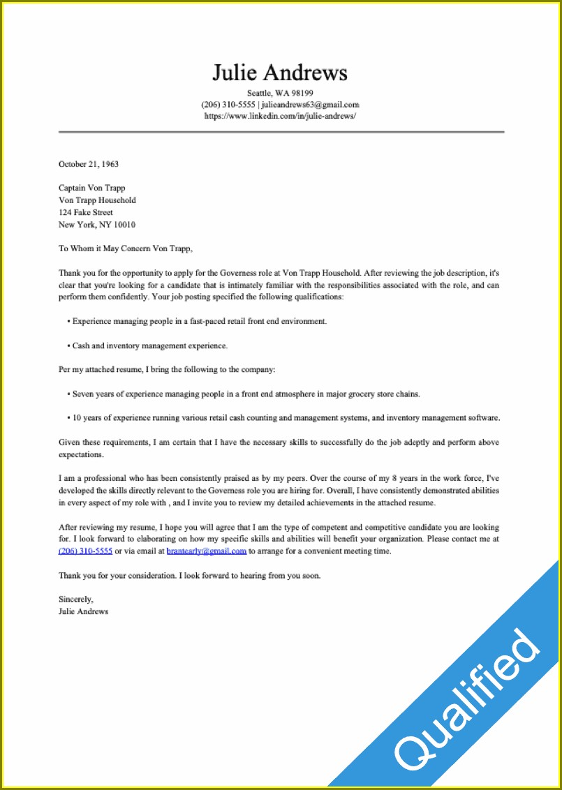 Resume Cover Letters Free