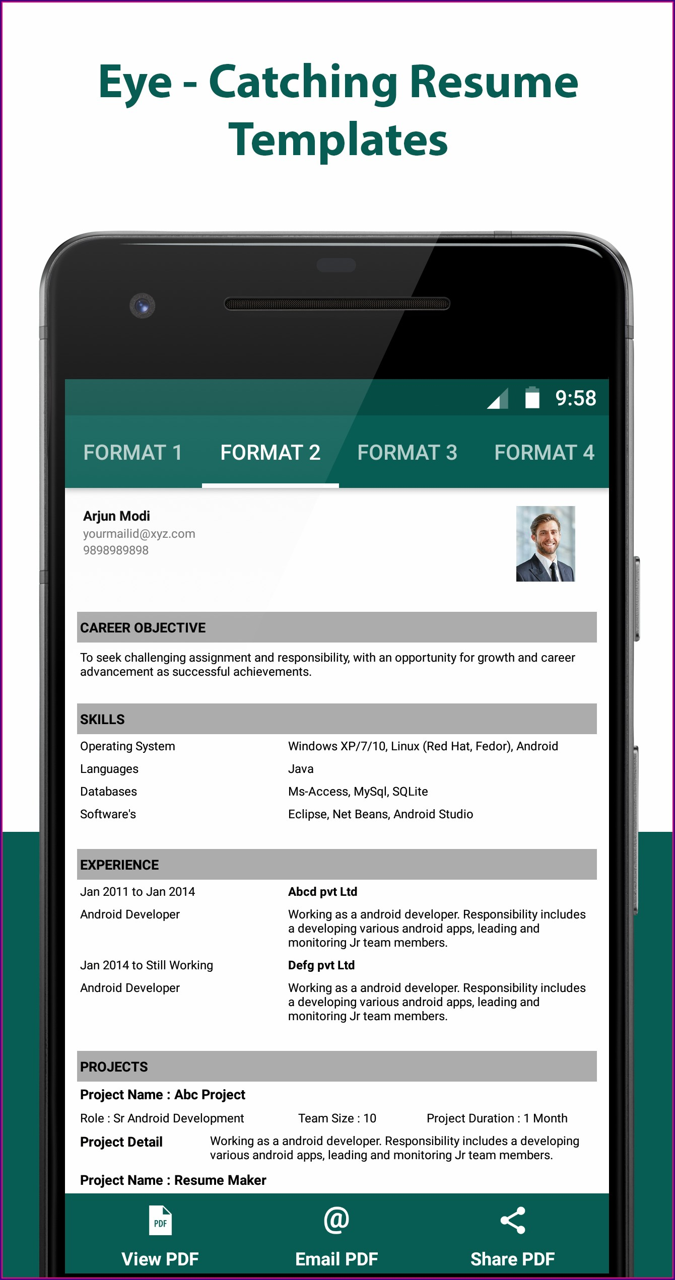 Resume Creator For Free Download