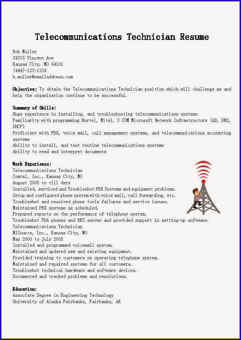 Resume For Air Conditioning Technician
