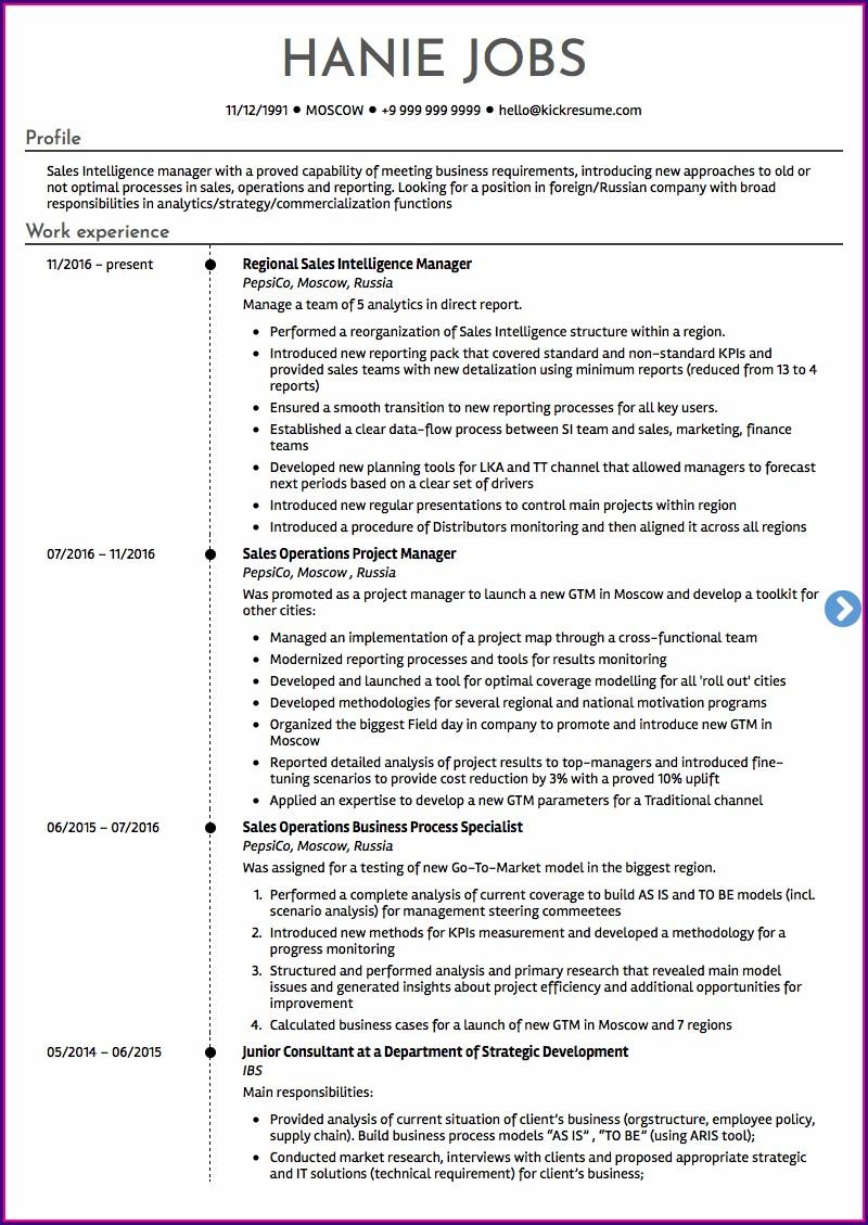 Resume Format Canada 2018