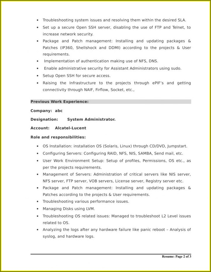 Resume Format For Electrical Engineer Fresher Pdf