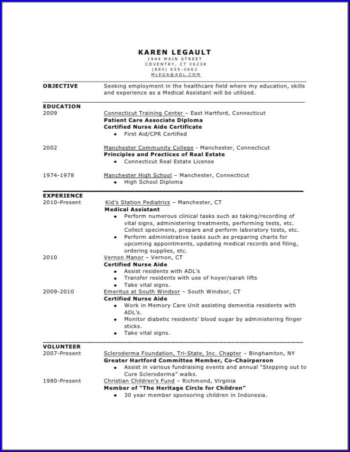 Resume Objective For Nursing Position