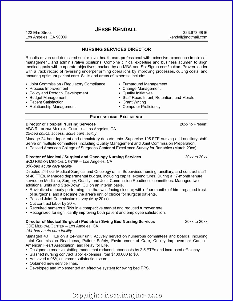 Resume Objective For Registered Nurse Position