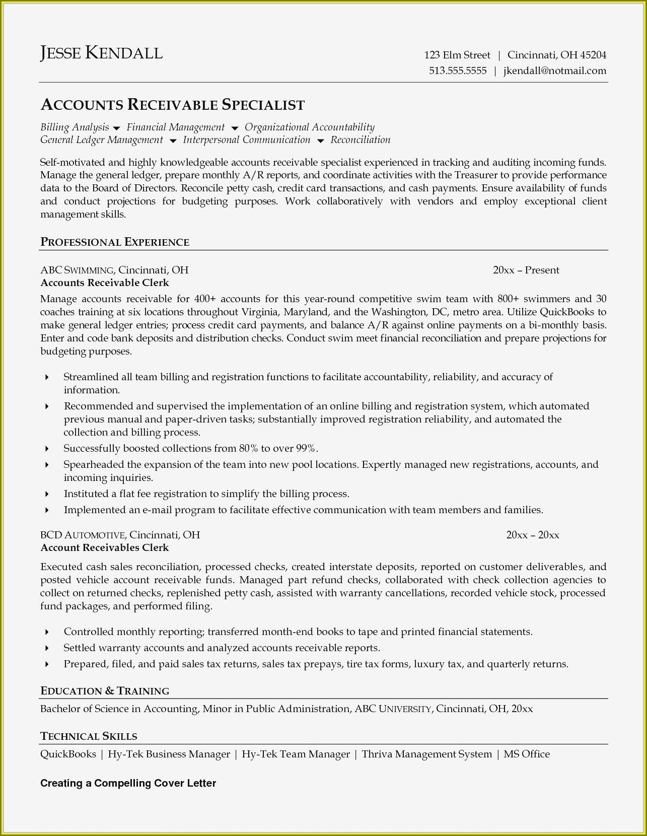 Resume Sample For Accounts Payable Assistant