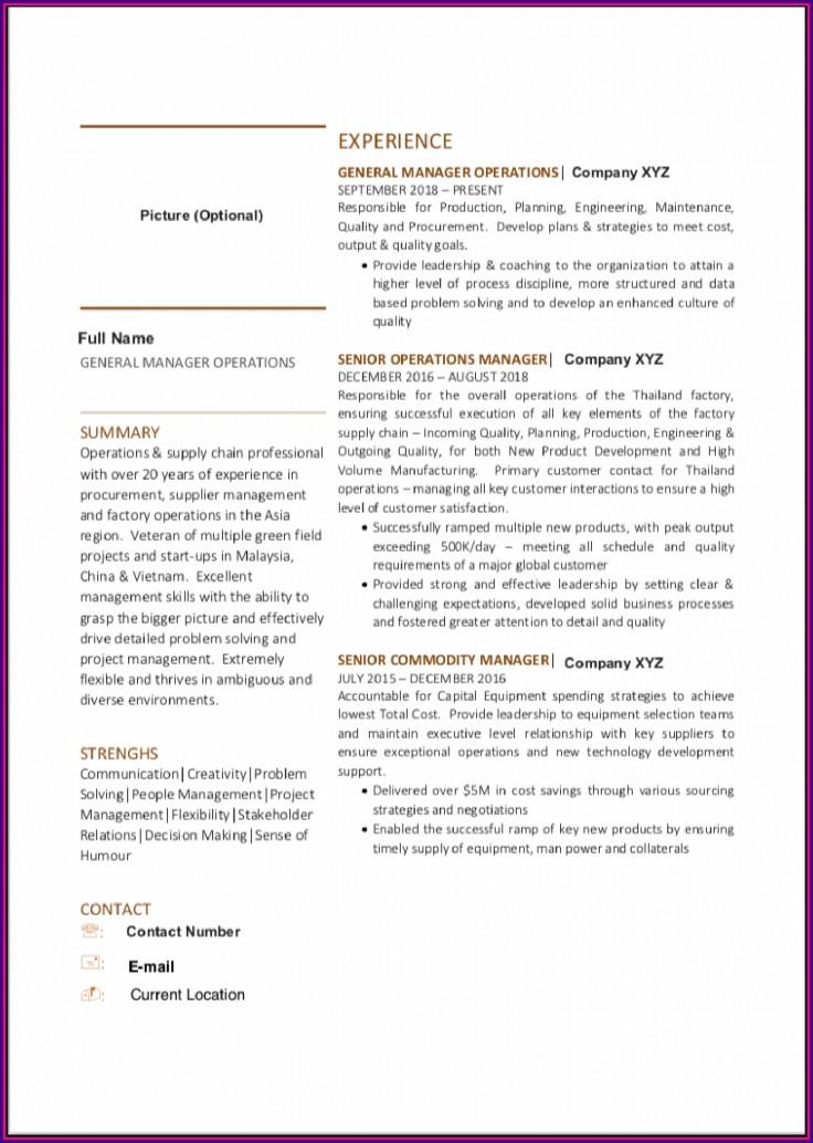 Resume Sample Malaysia Microsoft Word