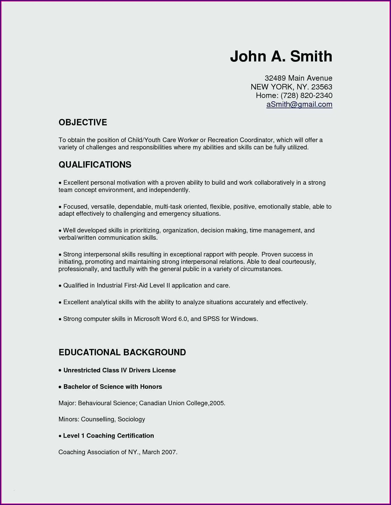 Resume Sample Microsoft Word