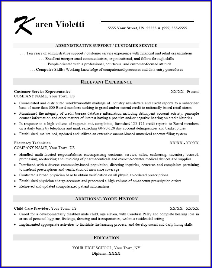 Resume Samples For Office Assistant Job