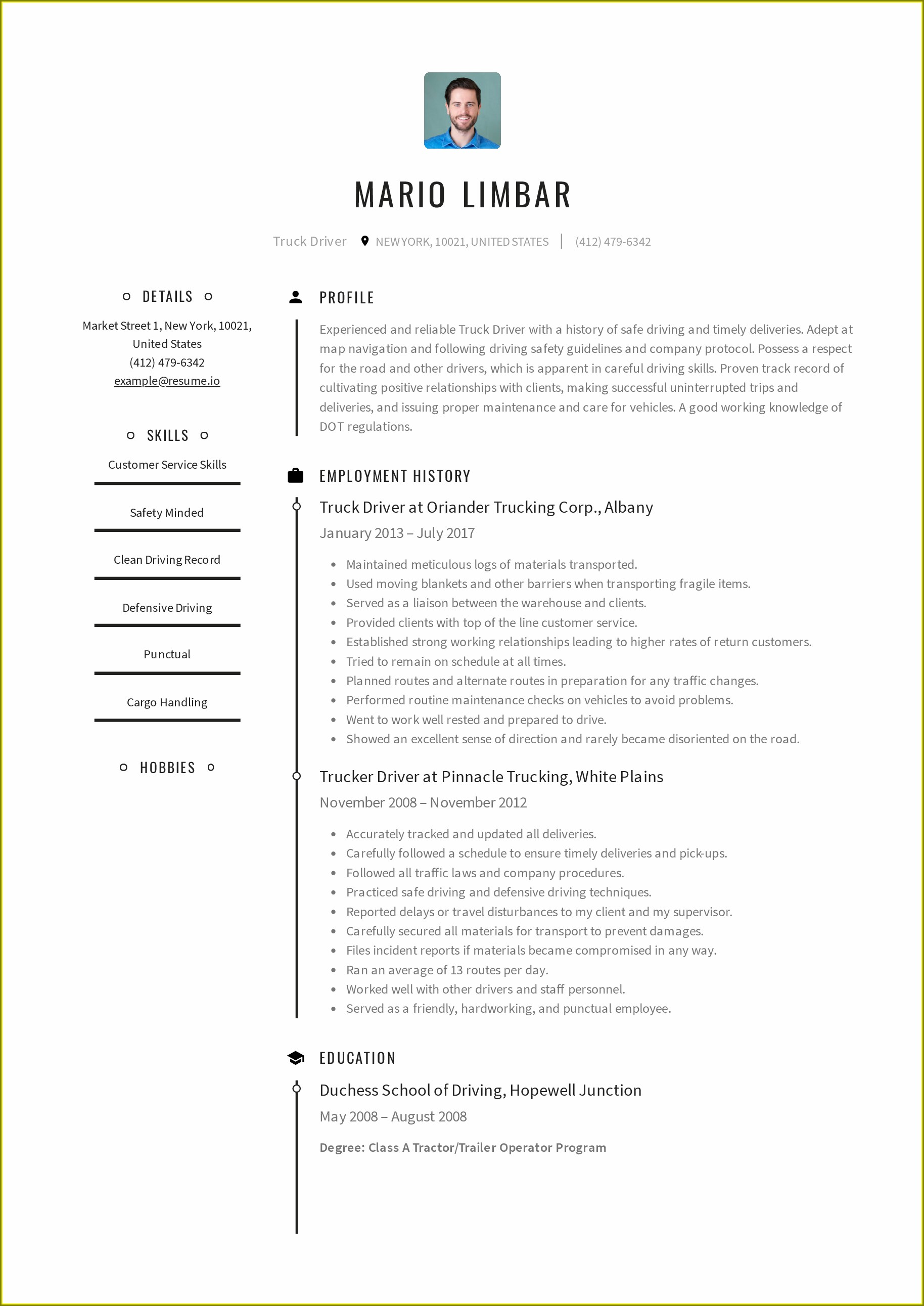 Resume Template Malaysia Free Download