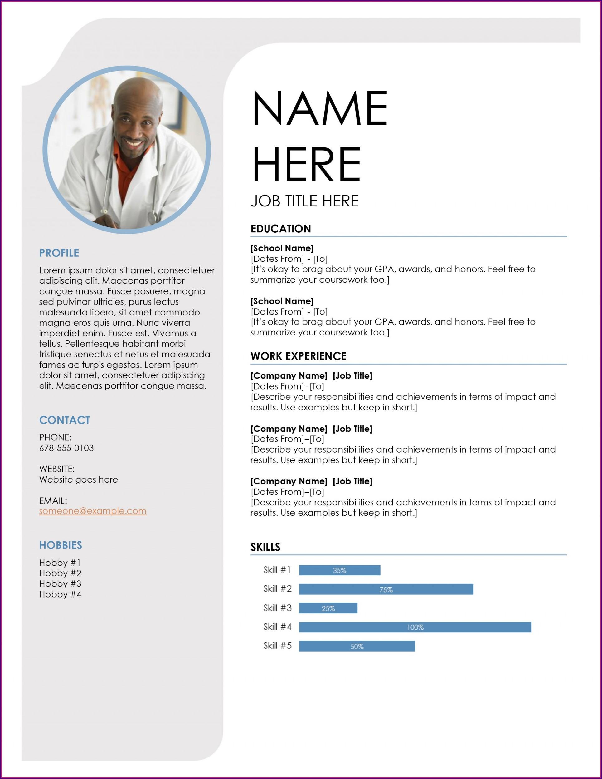 Resume Template Samples Microsoft Word