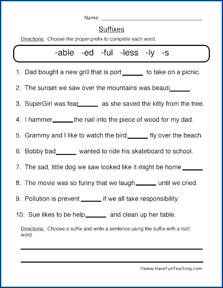 Root Word Worksheet Middle School