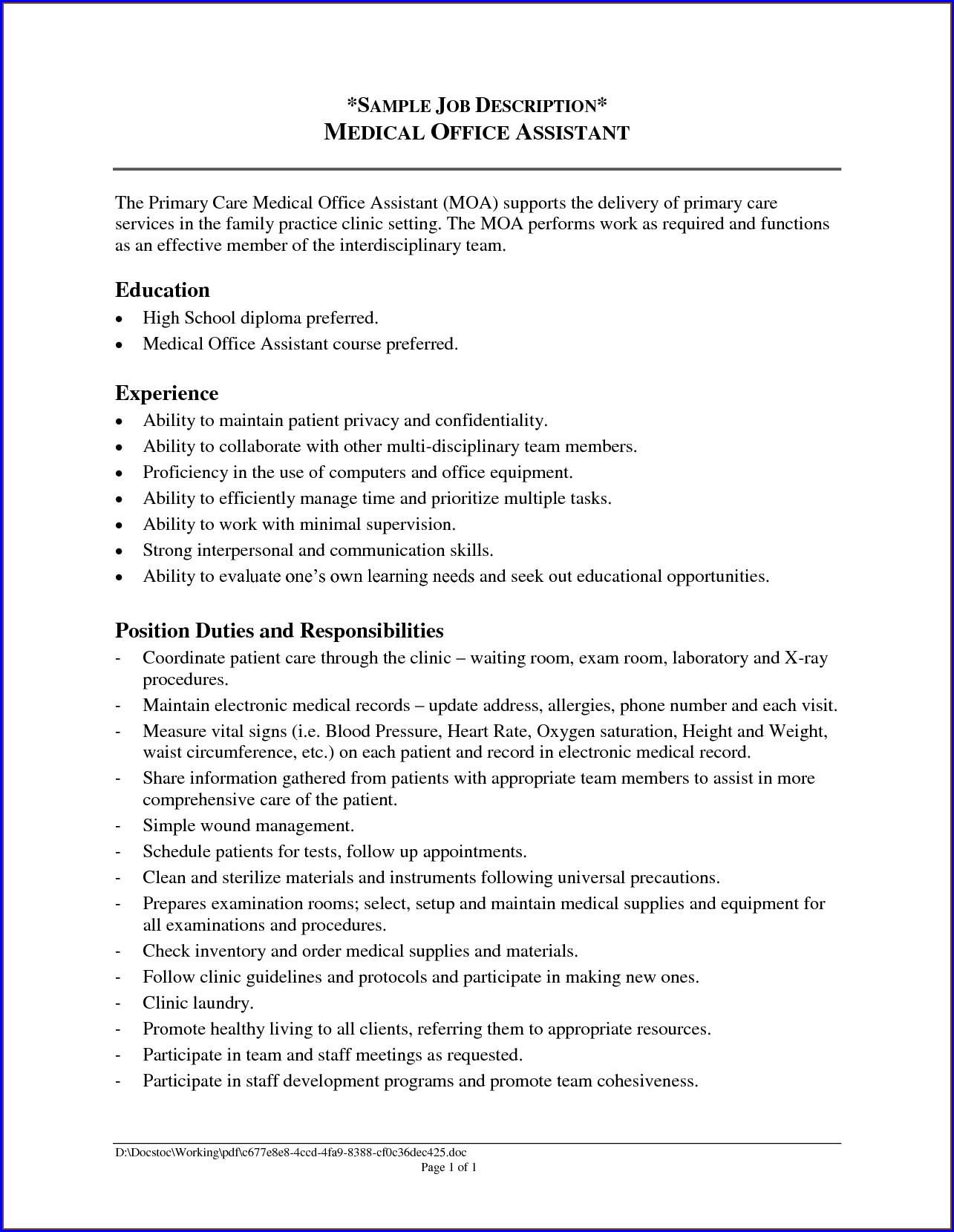 Sample Resumes For Administrative Assistant Jobs