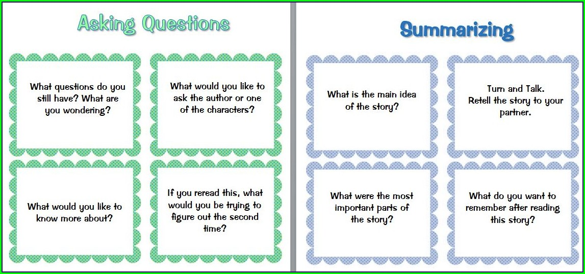 Scholastic Word Questioning Worksheet