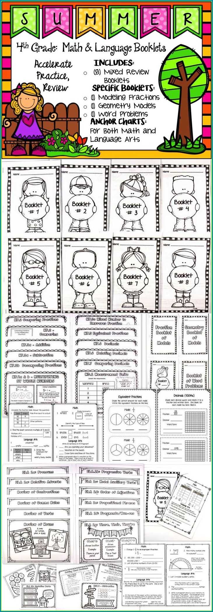 School Worksheets For 4th Graders Free