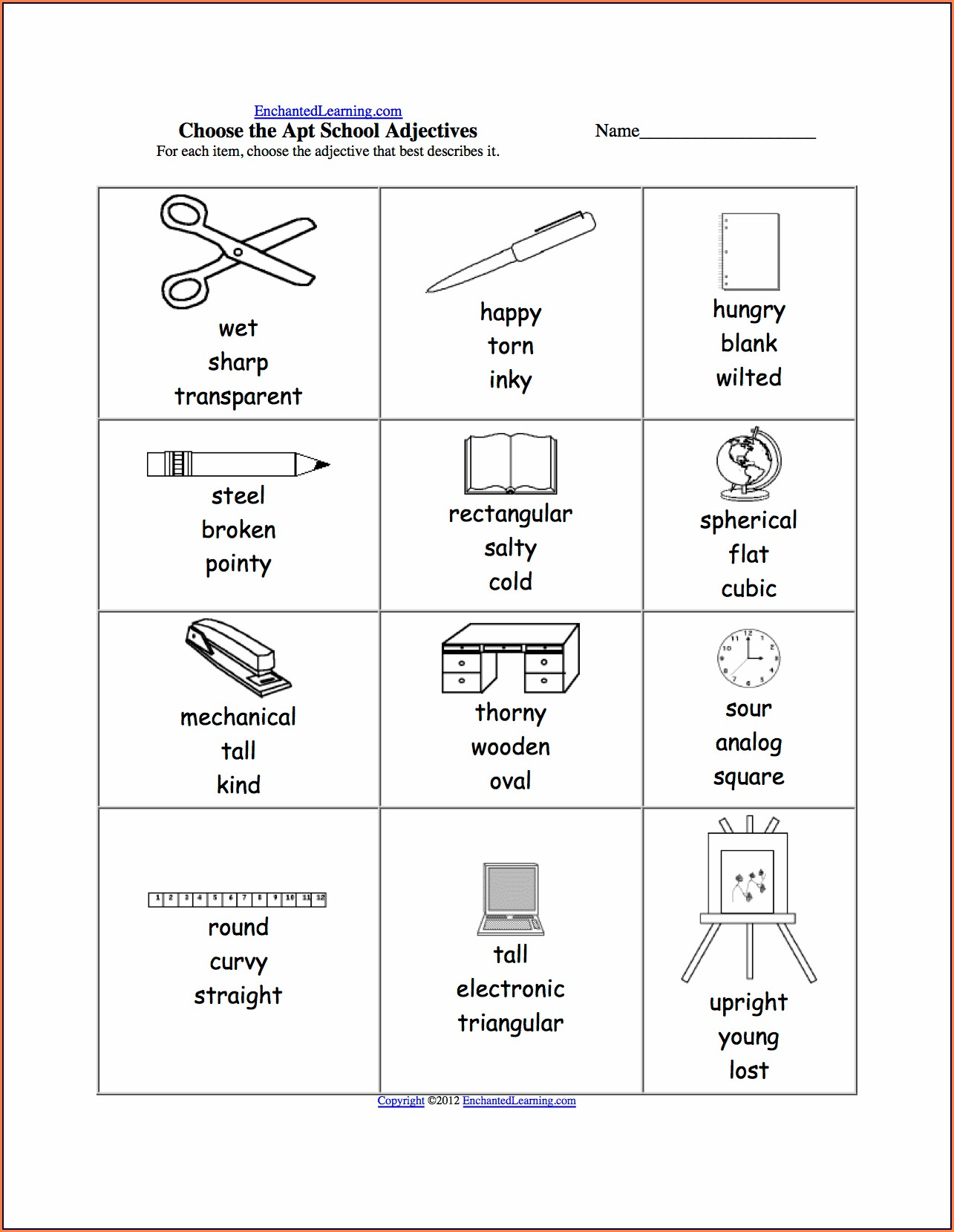 Science Material Worksheet For Grade 1