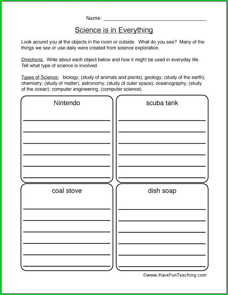 Scientific Method And Mythbusters Worksheet