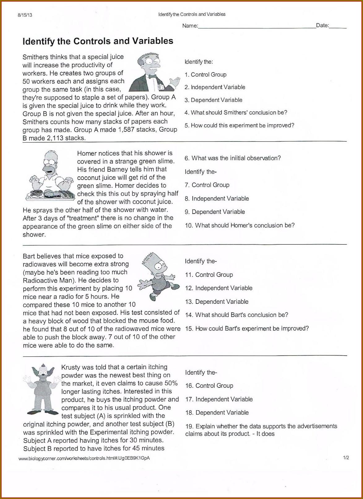 Scientific Method Cut And Paste Worksheet