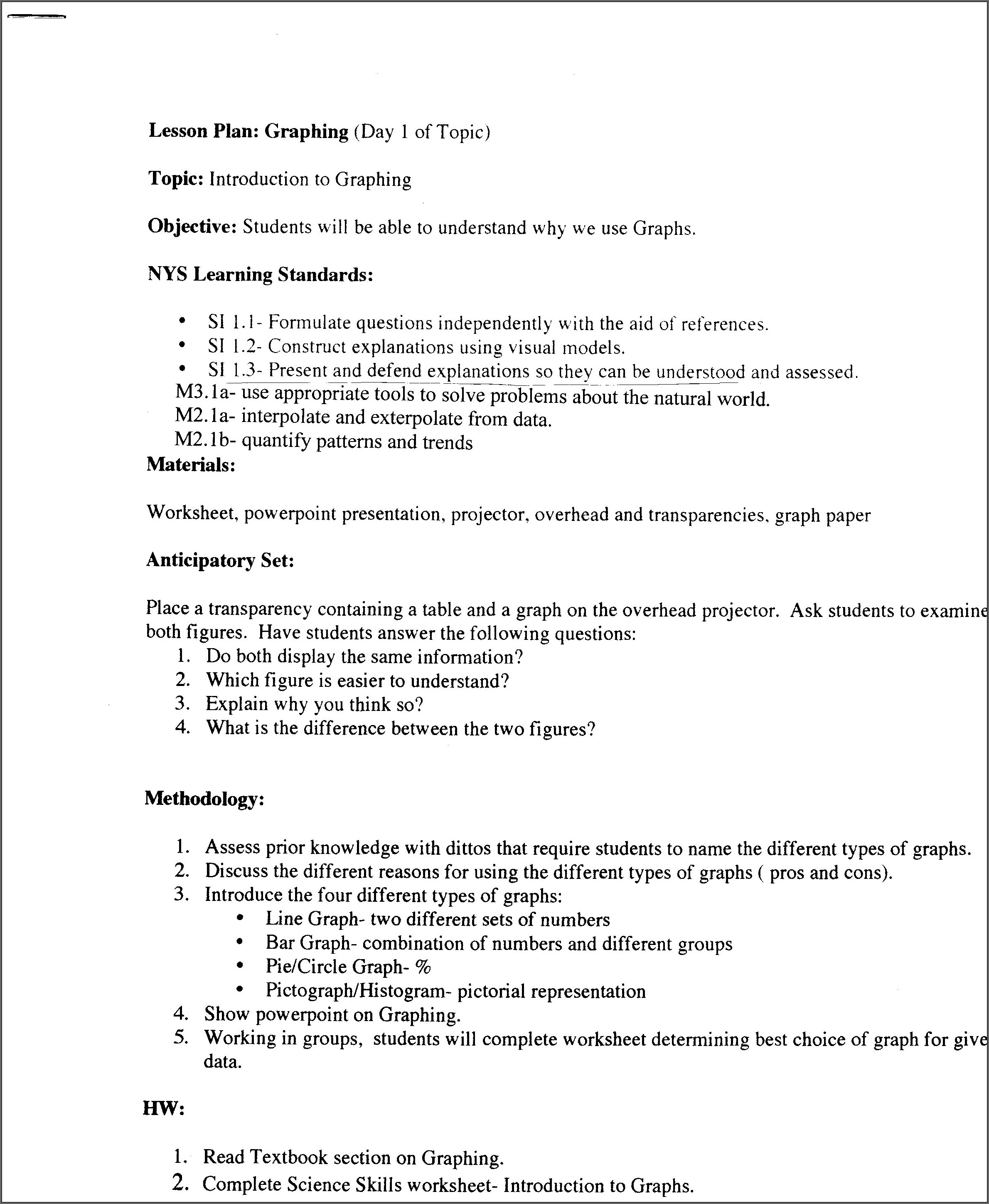 Scientific Method Graph Worksheet Answer Key
