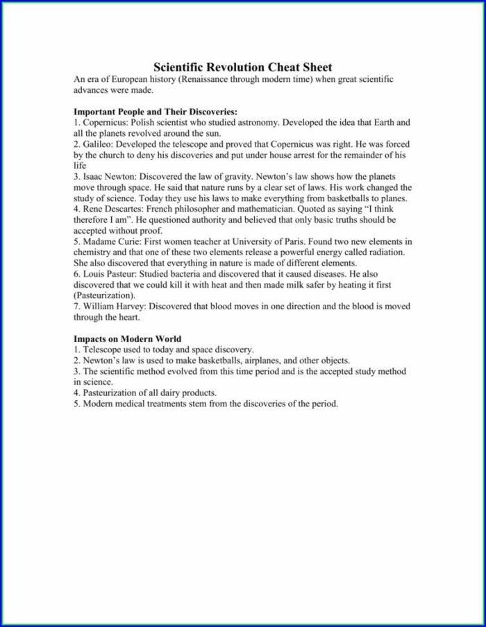 Scientific Method History Worksheet