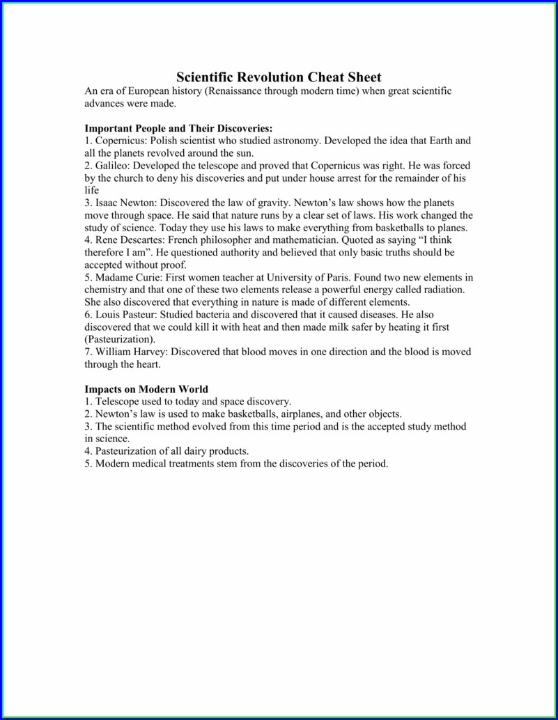 Scientific Method History Worksheet