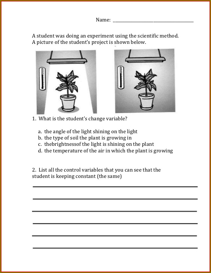 Scientific Method Practice Worksheet Pdf
